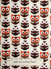 Woodland Animal Owl Hoot Bird Forest Cotton Fabric Timeless Treasures C2444 YARD