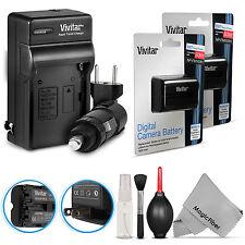 2x Vivitar NP-FM500H Battery + Charger for Sony Alpha SLT A57 A58 A77 A99 A700