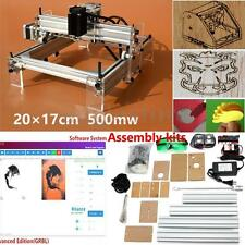 DIY Mini Laser Engraving Cutting Machine Desktop Printer Kit Adjustable 500MW