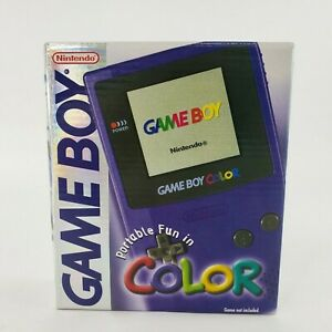 Nintendo Game Boy Color Grape 1998 1st Edition NEW FACTORY SEALED MINT