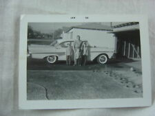 Vintage Car Photo Father & 3 Sons w/ 1958 Ford 819