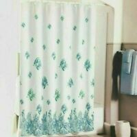 Bleeker & Main TAHITI FISH Fabric Shower Curtain Aqua White Fish Beach