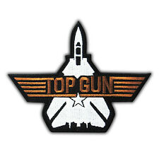 TOP GUN - Costume Maverick Navy Patch Embroidered Custom Applique Iron On Movie