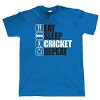 Eat Sleep Cricket Repeat, Mens Funny, Scores T Shirt, Gift Dad Grandad