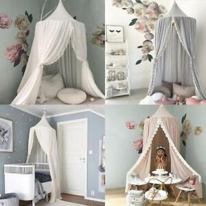 Lace Baby Crib Canopy Bed Mosquito Net Bedding Dome Kids Reading Play Tents UK