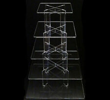 TK 5 Tier [Square] Clear Acrylic Cupcake Party Wedding Display Tower Cake Stand