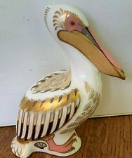 FIRST QUALITY LIMITED ED. VINTAGE ROYAL CROWN DERBY WHITE PELICAN W/ BOX