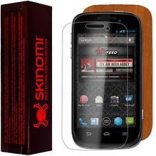 Skinomi Light Wood Full Body Skin+Screen Protector Cover for ZTE Awe