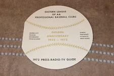 1972 Eastern League minor league baseball 12-page media guide