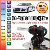 Two 35W 55W Bi-Xenon Hi Low HID Kit 's Replacement Light Bulbs H4 H13 9004 9007