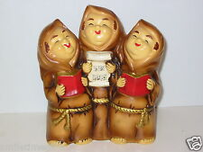 Vintage 50's Compo Music Box K N Japan Church Singing Monks Friars Figurine