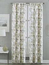 DKNY City Vine Window Curtain Panels Set of 2 Drapes PAIR Branches Beige Taupe