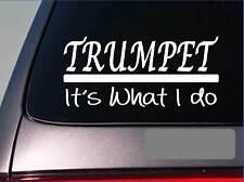Trumpet sticker decal *E303* horn brass trumpet clarinet band high school bass