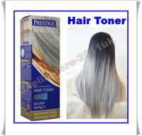 GREY HAIR SILVER EFFECT TONER BB02 DYE BLOND HAIR 100 ml AMMONIA Free