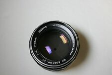MINOLTA MC ROKKOR-PF 58MM F1.4 STANDARD PRIME LENS FOR MINOLTA MD BAYONET MOUNT