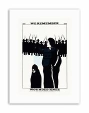CIVIL RIGHTS EQUALITY NATIVE AMERICAN WOUNDED KNEE Poster Canvas art Prints