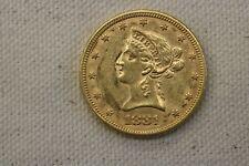 1881 GOLD UNITED STATES $10 DOLLAR LIBERTY HEAD EAGLE COIN PHILADELPHIA MINT