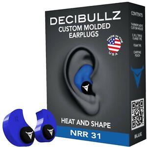 Decibullz - Custom Molded Earplugs, 31dB Highest NRR, Comfortable Hearing Pro...