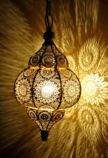 Modern Golden Moroccan  Hanging Lamps Vintage Ceiling Lights Home Lantern Gifts