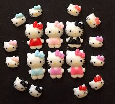 Hello Kitty résine Flatback EMBELLISSEMENTS 18 pcs