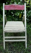 Early 1900's French Wooden Folding Garden Chair-Amazing Condition-Works Perfect