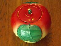 Vintage Hull Pottery Blushing Apple Cookie Jar (1940's-1950's)