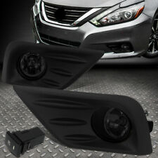 FOR 16-18 NISSAN ALTIMA SMOKED LENS FRONT BUMPER FOG LIGHT LAMPS W/BEZEL+SWITCH