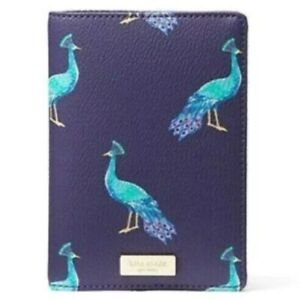 NWT Kate Spade Shore Street Peacock Party Travel Passport ID Holder Cover Case