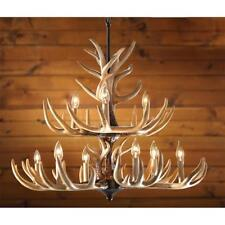 Antler Chandelier Light Whitetail Decorative Chain Hanging Hunting Lodge