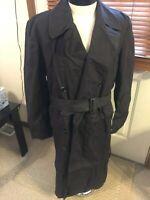 1970 VIETNAM Era USN US Navy NAMED ID'd overcoat RAINCOAT Medium 38 39 40 R