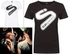 Hüftlange Kurzarm Damen-T-Shirts aus Baumwolle