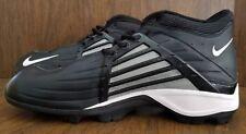 NIKE Hi-Top Football Shoes Black-Gray-White Swoosh Size 16