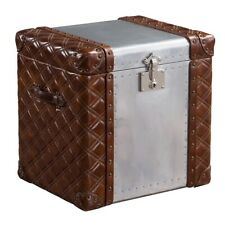 Canvas Steamer Antique Style Leather Trunk D-13