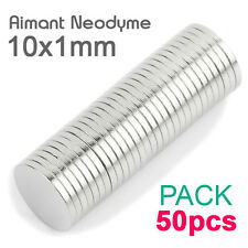 Lot 50pcs Aimant Neodyme Disque Rond Puissant Neodymium NdFeB Magnet 10mm x 1mm