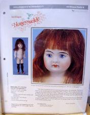 Seeley's Dollmaker'S Worksheet - Honeysuckle Brown Stocking Girl - All-Bisque