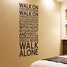 You'll Never Walk Alone Vinyl Wall Sticker Decor Inspiration Quote Art Sticker