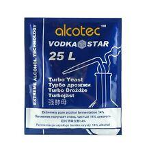 Alcotec Vodka Star Turbo Yeast Alcohol Spirit Home Brew Wash FAST FREE