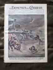 La Domenica del Corriere 24 Marzo 1935 Bufera di sabbia Alpinista Cane Ciclismo