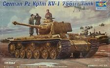 Trumpeter 1/35 German Pz.Kpfm KV-1 756 (r) Tank Model Kit 366