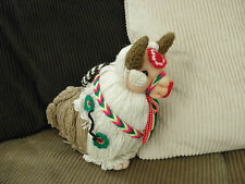 Brand New ~ Handmade In Peru In The Andean Mountains By Artisans Stuffed Bull