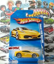 Hot Wheels 2010 #152 Ferrari F430 Challenge YELLOW,2ND COLOR,WHITE Y5,BLACK BASE