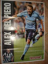 POSTER FC JUVENTUS JUVE ALESSANDRO DEL PIERO ALEX SIDNEY TUTTOSPORT 67 X 48 cm