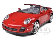 PORSCHE 911 (997) TURBO CABRIOLET RED 1:18 DIECAST MODEL BY MOTORMAX  73183
