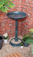 Outdoor Garden Patio Pedestal Weather Resistant Ornament Bird Water Bowl Bath