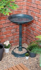 Outdoor Garden Patio Pedestal Weather Resistant Ornament Bird Water Bowl Bath