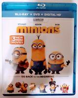 Minions Blu-Ray Disc DVD & Digital HD Combo 2015 2-Disc Bonus Feature New Sealed