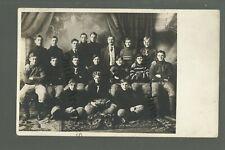 Sleepy Eye MINNESOTA RP 1909 FOOTBALL TEAM Players Coach STUDIO SHOT nr New Ulm