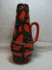 Mid Century 60's German Scheurich Spider Web Lava Vase #^