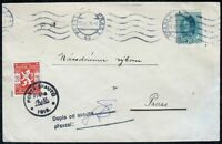 s2044) Pfadfinder Scouts Skautu CSSR - Österreich Mischfrankatur Prag 17.XI.18