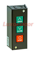 Commercial Garage Door Opener Push Button Wall Mount PBS 3 Control Station